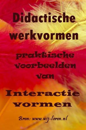 Werkvormen - Interactie