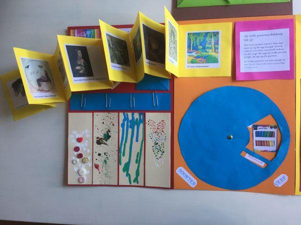 Lapbook Schilderkunst - Geschiedenis van de schilderkunst