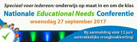 Voor iedereen die beroepshalve betrokken is bij Educational Needs