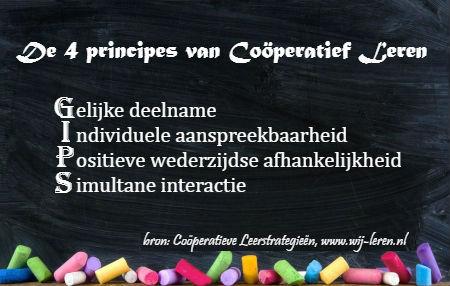 GIPS - vier principes van cooperatief leren