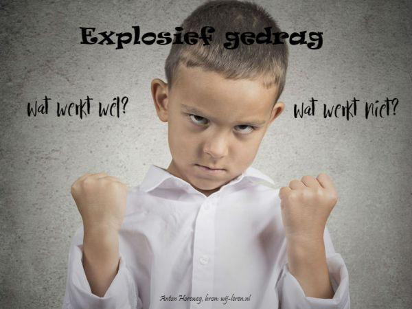 Explosief gedrag - Aanpak en oplossingen
