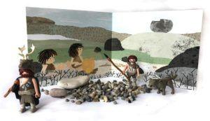 Prentenboeken over vroeger - de steen en de tijd