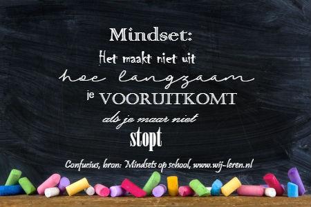 Mindset: Het maakt niet uit hoe langzaam je vooruit komt, als je maar niet stopt