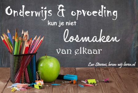 Mooie quote Luc Stevens over onderwijs en opvoeding